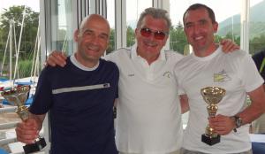 I vincitori, Meriggi/Schiaffino con il presidente della Velica Hoerterich