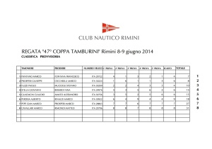 TAMBURINI 2014 classifica 2 gionata