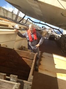 Giovanni sulla nave