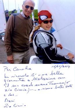 Gianfranco Bragantini con la nipote Carola Bragantini